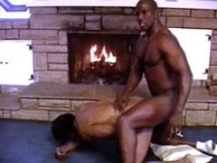 Buffed Ebony Muscle Man Satisfies His Matured Gay Lover By T...