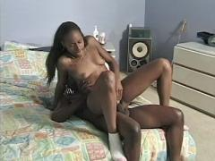 Beautiful Ebony Goddess With A Superb Hairy Pussy Receives Unbelievable Fucking On Her Bed
