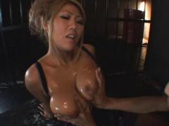 Jav Asian Doll Has Immense Hooters Out Of Dress And Squeezed