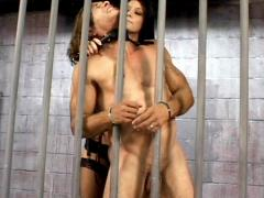 Ruthless Domme Leah Wilde Disciplines Her Male Captive With Whipping And Humiliation