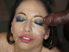 Latex-clad Slut Does Anything To Wrap Her Lips Around A Gang Of Angry Black Guys
