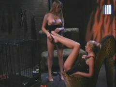 Nicole Sheridans And Chloe Go For Cage Imprisonment And Foot Worshipping In This Nasty BDSM