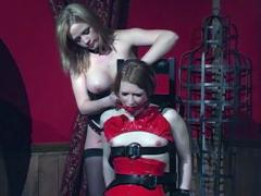 Fierce Mistress Erzsebet Binds Her Slave Madison Young To A Chair And Gags Her In This BDSM