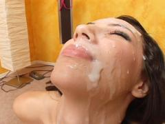 Cute Chloe Morgan Has Semen Mask From Numerous Cumshots