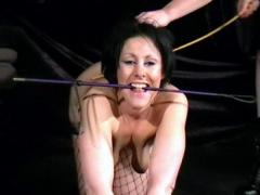 Crystel Leis Masturbating In Front Of Her Mistress And Caned On Her Red Bottom