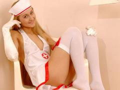 Teen Dressed Up As A Nurse Shows How She Can Cure Many Diseases