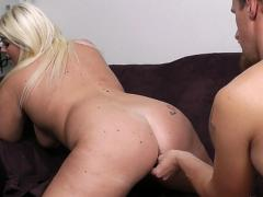 Bored UK Blonde Plumper Facefucked And Fingered By A Total Stranger