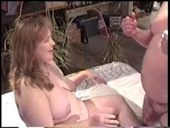 Sex-frenzied Plumper Gets Shagged And Eats Cock