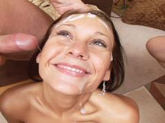 Hungry Slut Vanessa That Loves Getting Double Cock Sandwich