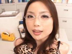 An Mashiro Asian Secretary With Big Boobs Out Of Bra Is Licked