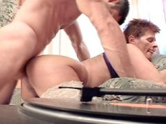 Short Haired Granny Showing Off Her Tight Buns As She Gets Pumped From Behind