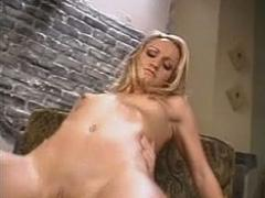 Slim Petite Small Tits Blonde Lustfully Pumping On Top Of Long Dick
