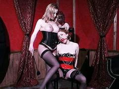 Sexy Dominatrix Emily Marilyn Gags Her Naughty Submissive Partner While Examining Her Cooze