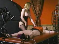 Sexy Submissive Alsara Sin Gets Bound While A Sexy Blonde Smothers Her With Her Breasts Liv