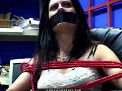 The Rope Gets The Worst Of It When Her Smelly Gash Is Tied Up