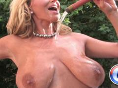 Rachel Aziani Has Her Own Wet T-shirt Contest