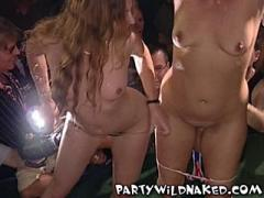 Party Girls Get Naked In A Wet T-Shirt Contest