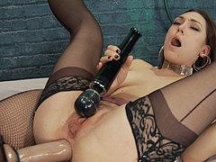 Kimberly Kane Lezdom Anal Strapons And Fists Busty Stockings...