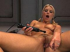 Anikka Albrite Busty Blonde With Perfect Body Fucks Sex Mach...