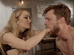 Aiden Starr Femdom Sadistic Butcher With Bound Delivery Boy ...