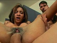 Sadie Santana Is Gangbanged By Five Guys To Close A Business...