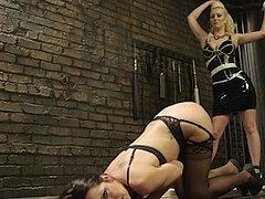 Marley Blaze Punished And Strapon Fucked By Lezdom Cherry To...