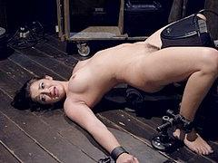 Dani Daniels In Classic Bondage Devices Her Pussy Toyed To O...