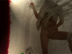 Blonde Teen Washes Her Firm Naked Body