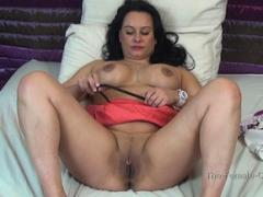 French Brunette Horny Milf Takes Off Lingerie To Orgasm For ...