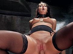 Sabrina Banks Rope Bound In Garter Stockings Is Fucked By Mr...