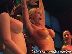Out Of Control Wet T-Shirt Contest Girls Baring It ALL