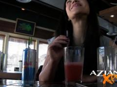 No One Around Seems To Mind That Horny Petite Alyssa Reece Is Sitting At The Bar And
