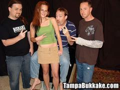 Spring Break College Girl Tasting Tampa Bukkake