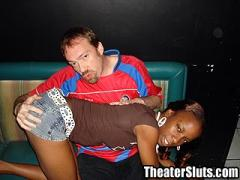 Theater Slut Jayden Getting Her Tiny Ebony Tits Coated In Cum