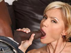 Blond Cougar Stripper Fucks & 2 Young Blacks