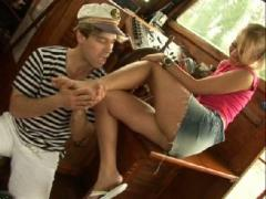Barely Legal German Blondie Getting Banged Hard On The Yacht