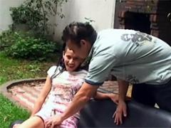 A Hot Latina Chick Fucked Outdoors In The Garden Hardcore