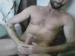 Hairy Studs Jerking Off Their Stiff Cocks On Cam