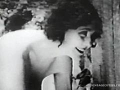 This Is A Very Old Vintage Hardcore Video Of A Man Who Saw A Few Naked Ladies Who Wanted
