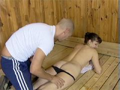 Juicy Mature Brunette Goes To The Sauna To Hook It Up With A Young Horny Masseur