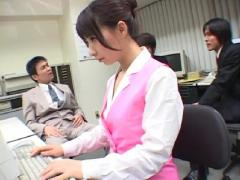 Three Japanese Managers Gangbanging Their Obedient Secretary