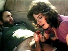 Horny Seventies Couple Fucking In The Backseat Of A Car